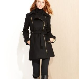 Michael Kors black wool trench coat